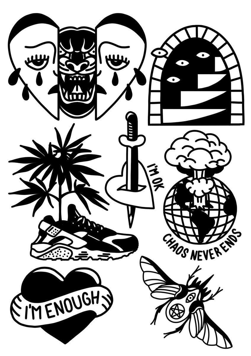 Black Traditional Tattoo Tumblr Traditional Tattoo Art Traditional Tattoo Old School Tattoo Designs
