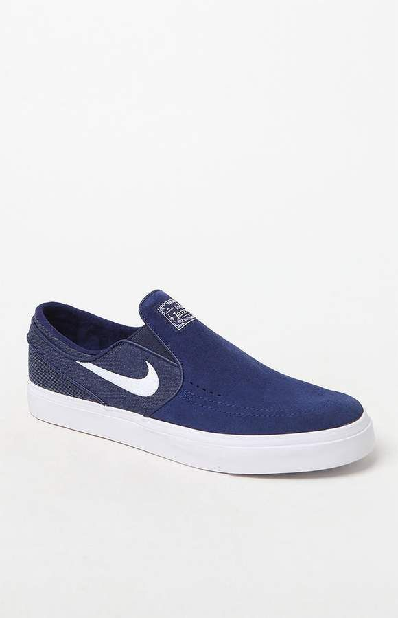 818344fe2b Nike SB Zoom Stefan Janoski Slip-On Suede Blue & White Shoes | Boots ...