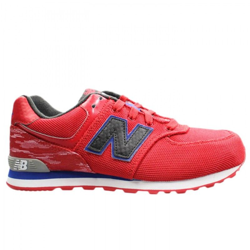 The New Balance 574 Summer Wave in red is available on