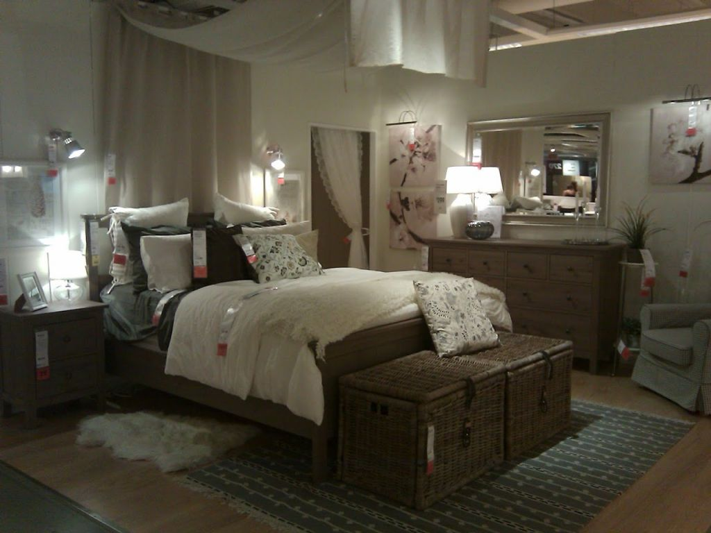 Bedroom Attractive Grey Brown Ikea Hemnes Bed With Rattan