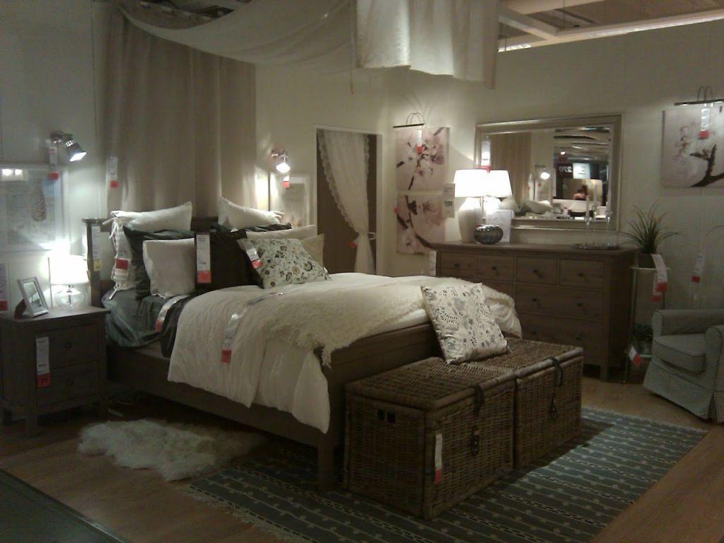 Amazing Bedroom Attractive Grey Brown Ikea Hemnes Bed With Rattan Storage For Grey  Brown Bedroom Furniture