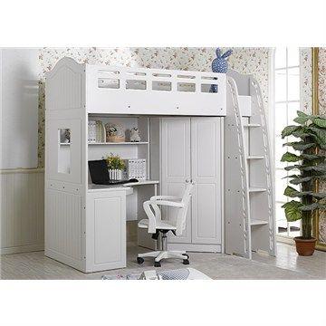 La Lourve Cambination King Single Bed With Wardrobe Desk