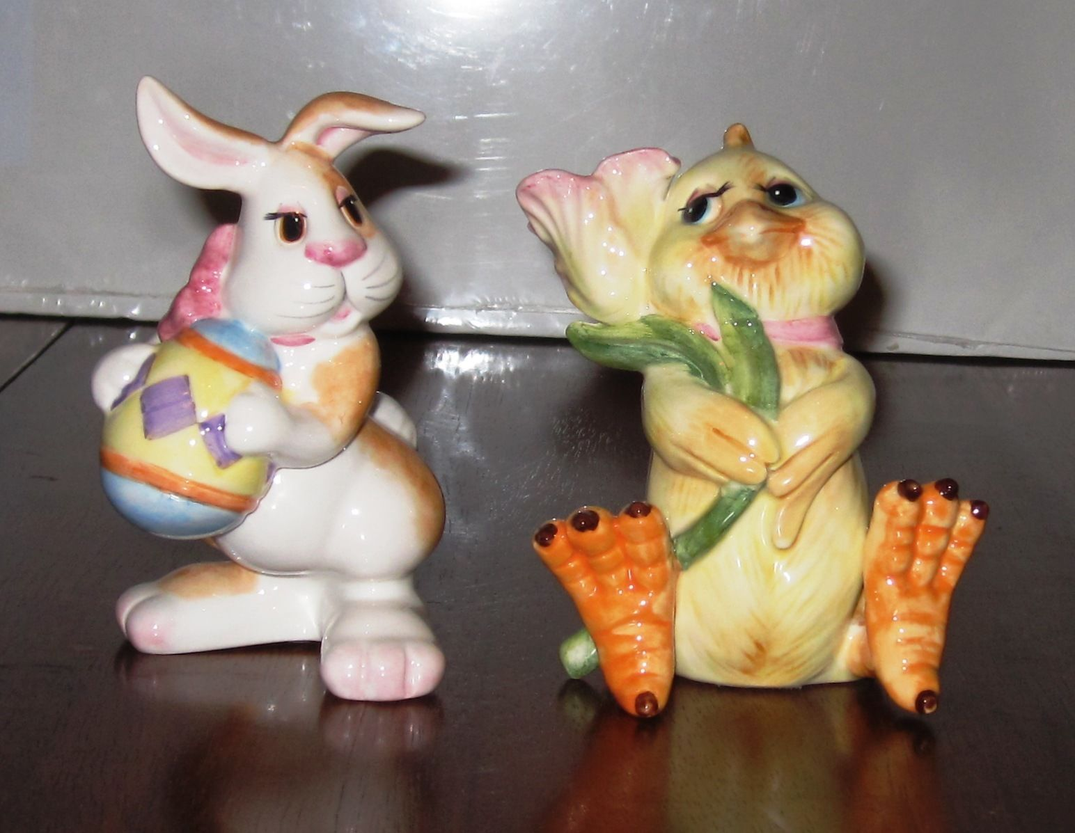 Nice Cookie Jars Fitz And Floyd Vintage Easter Bunny And Chick Salt Pepper