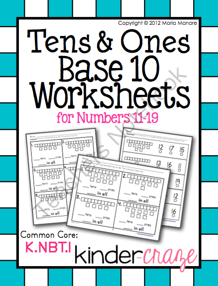 tens and ones numbers 11 19 math ideas tens ones first grade math worksheets worksheets. Black Bedroom Furniture Sets. Home Design Ideas