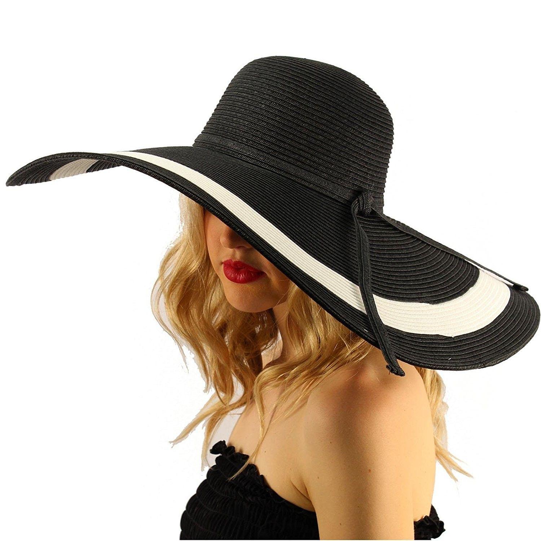 5a5d3a9c4 Summer Elegant Derby Floppy Hat -