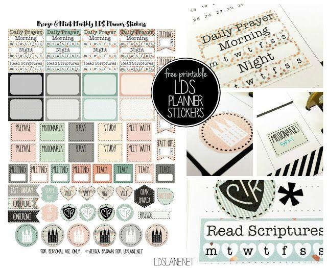 Free Printables: LDS Planner Stickers (LDS Lane) | Pinterest