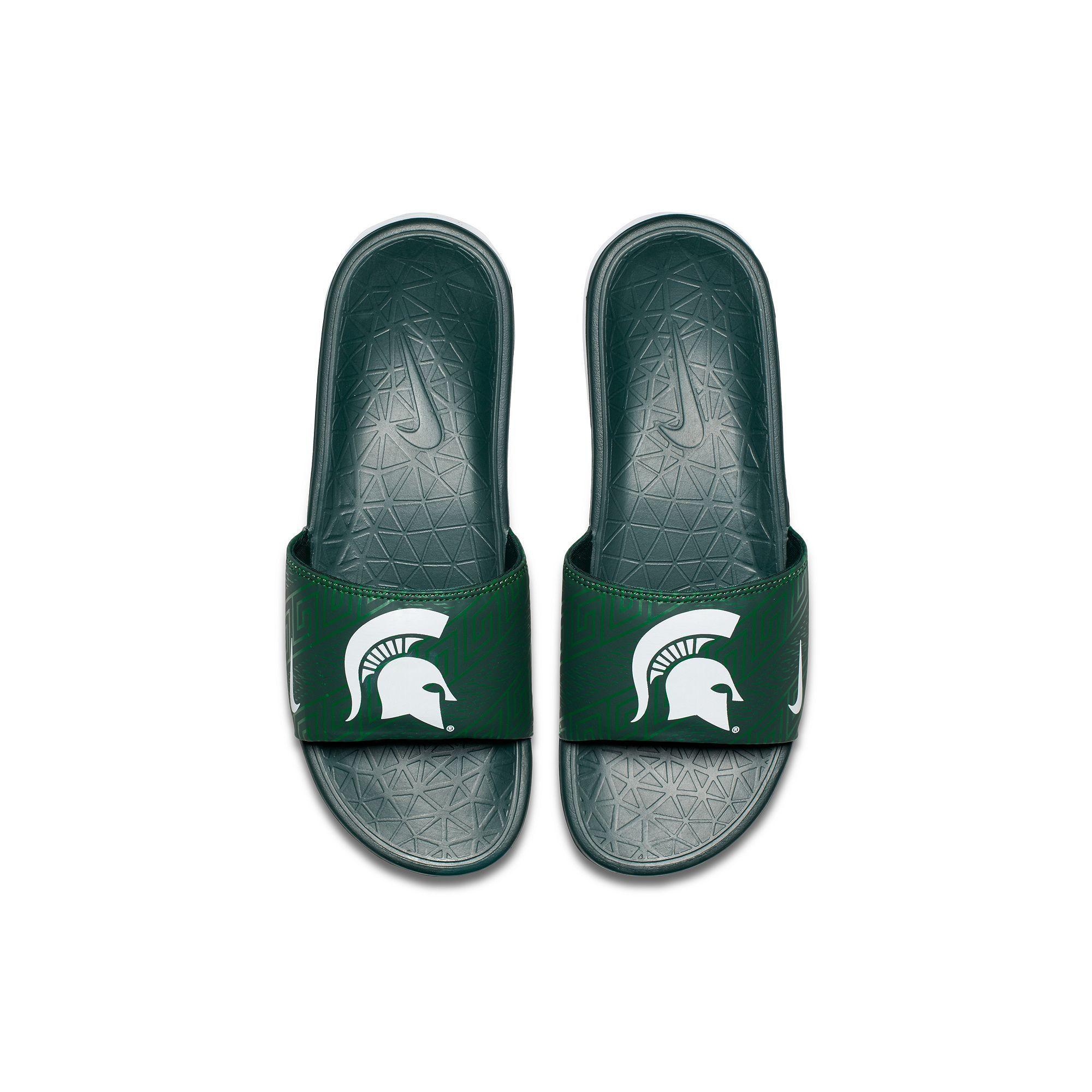 ca675da2e4d Men s Nike Michigan State Spartans Benassi Slide Sandals