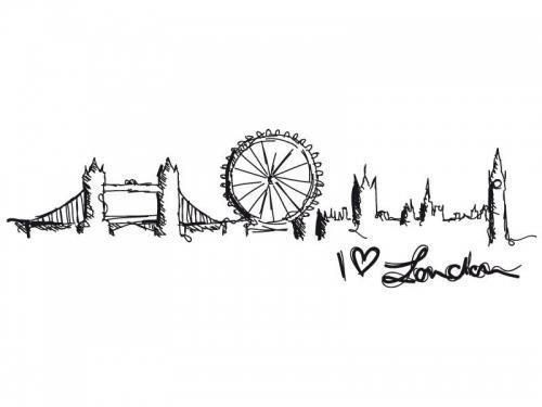 This Would Be A VERY Cool Tattoo London TattooLondon Skyline SilhouetteSilhouette