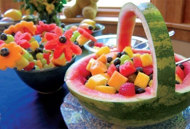 Decoracion De Frutas Fotos De Ideas Originales Postres Con