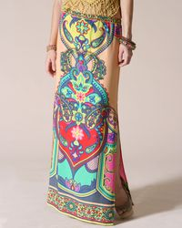 colorful Boho Maxi Skirt by Flying Tomato