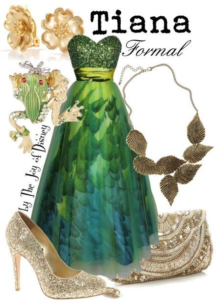 Formal Outfit Inspired By Tiana From Princess And The Frog