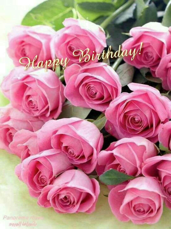 Happy Birthday Beautiful Pink Roses Pink Flowers Beautiful
