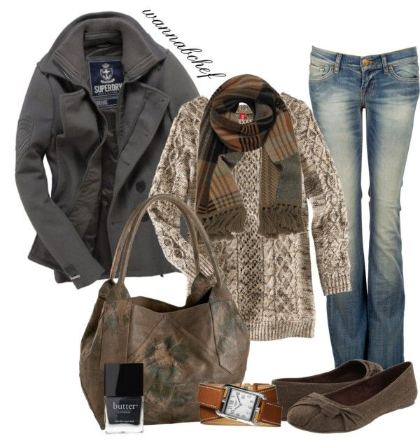 """Warm Winter Neutrals"" by wannabchef on Polyvore"