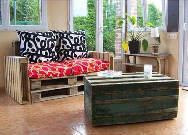 22 estupendos sillones y sofs hechos de palets de madera - Sofas De Palets