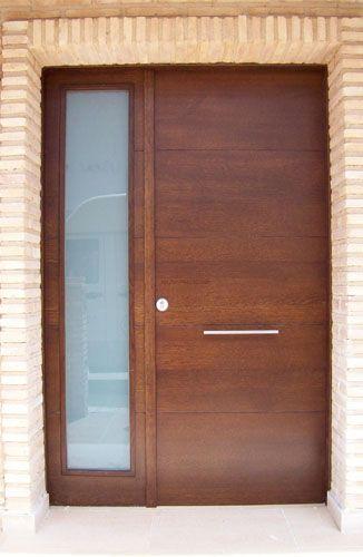 Puertas exteriores madera y crital buscar con google for Puertas para exteriores