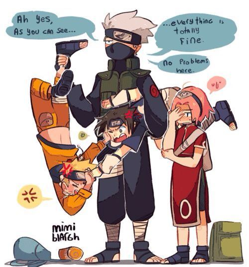 Image result for team 7 is back believe it sai funny comic   Naruto