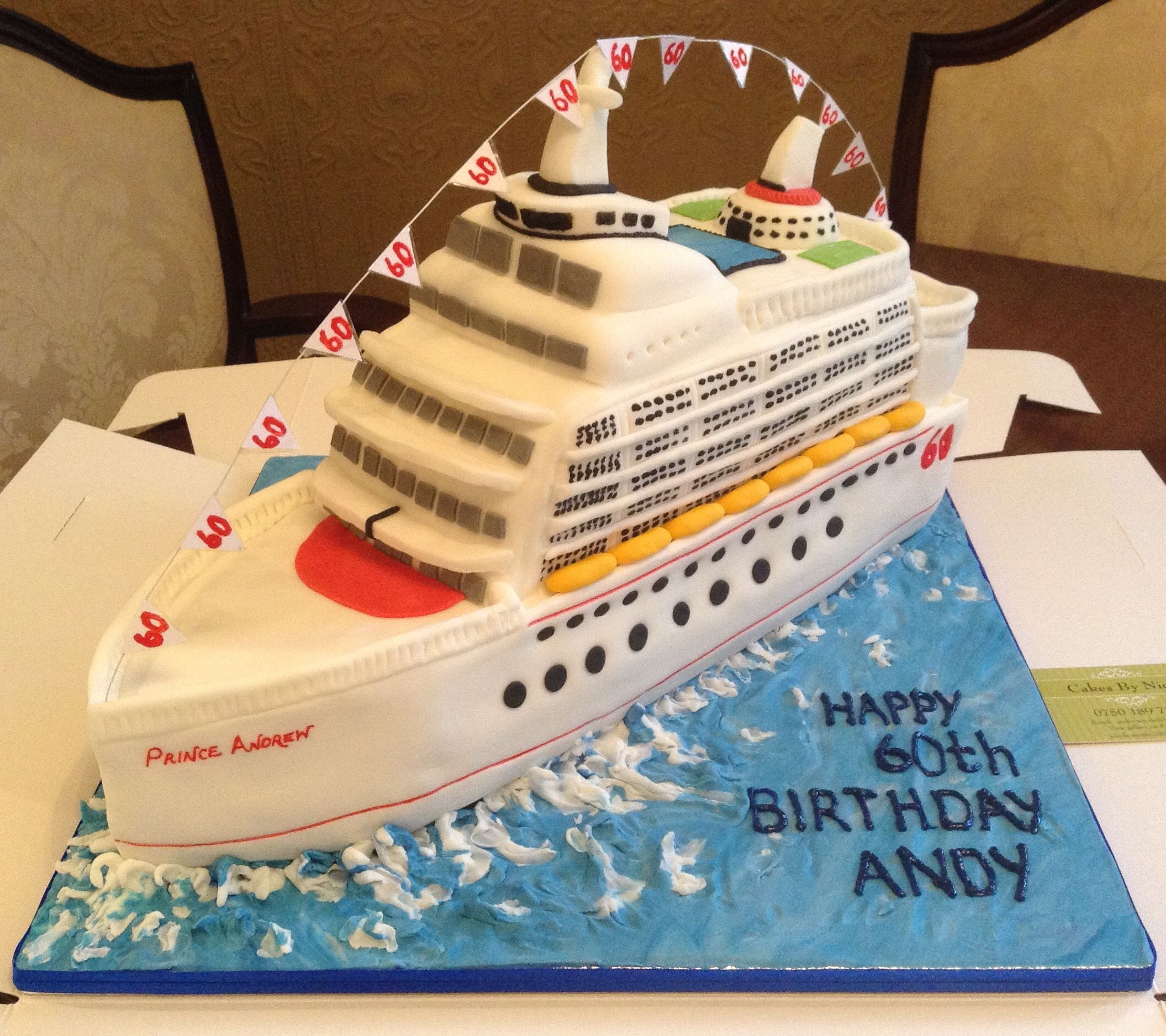 Amazing Cruise Ship Cake From Cakes By Nicky With Images Cake Wedding Birthday Cards Printable Inklcafe Filternl