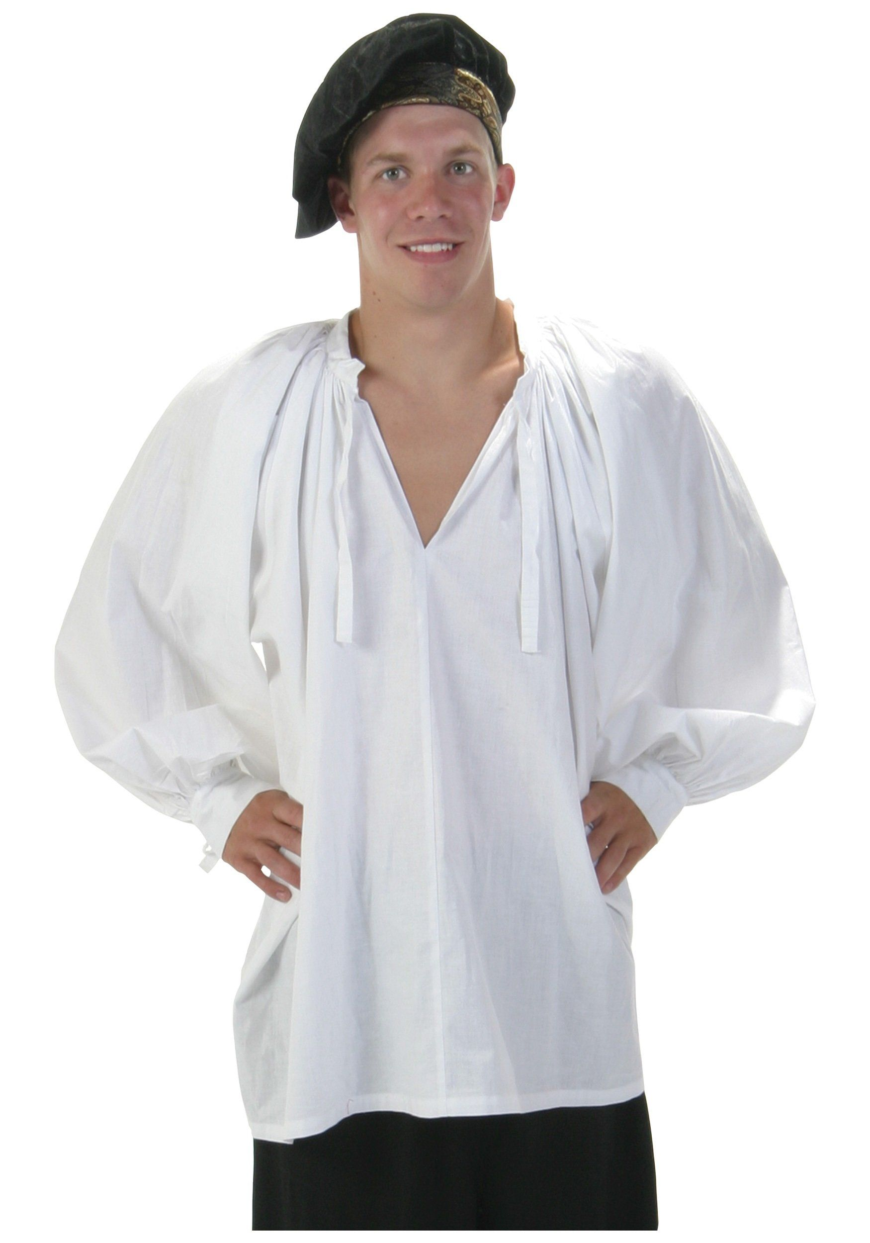3d67ed25dc685 Amazon.com  White Renaissance Peasant Shirt (Medium)  Adult Sized Costumes   Clothing