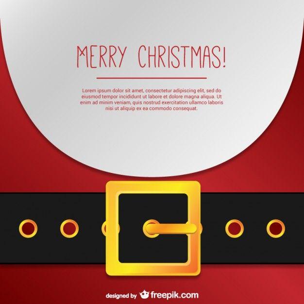 Santa Claus Christmas card Free Vector Christmas Pinterest
