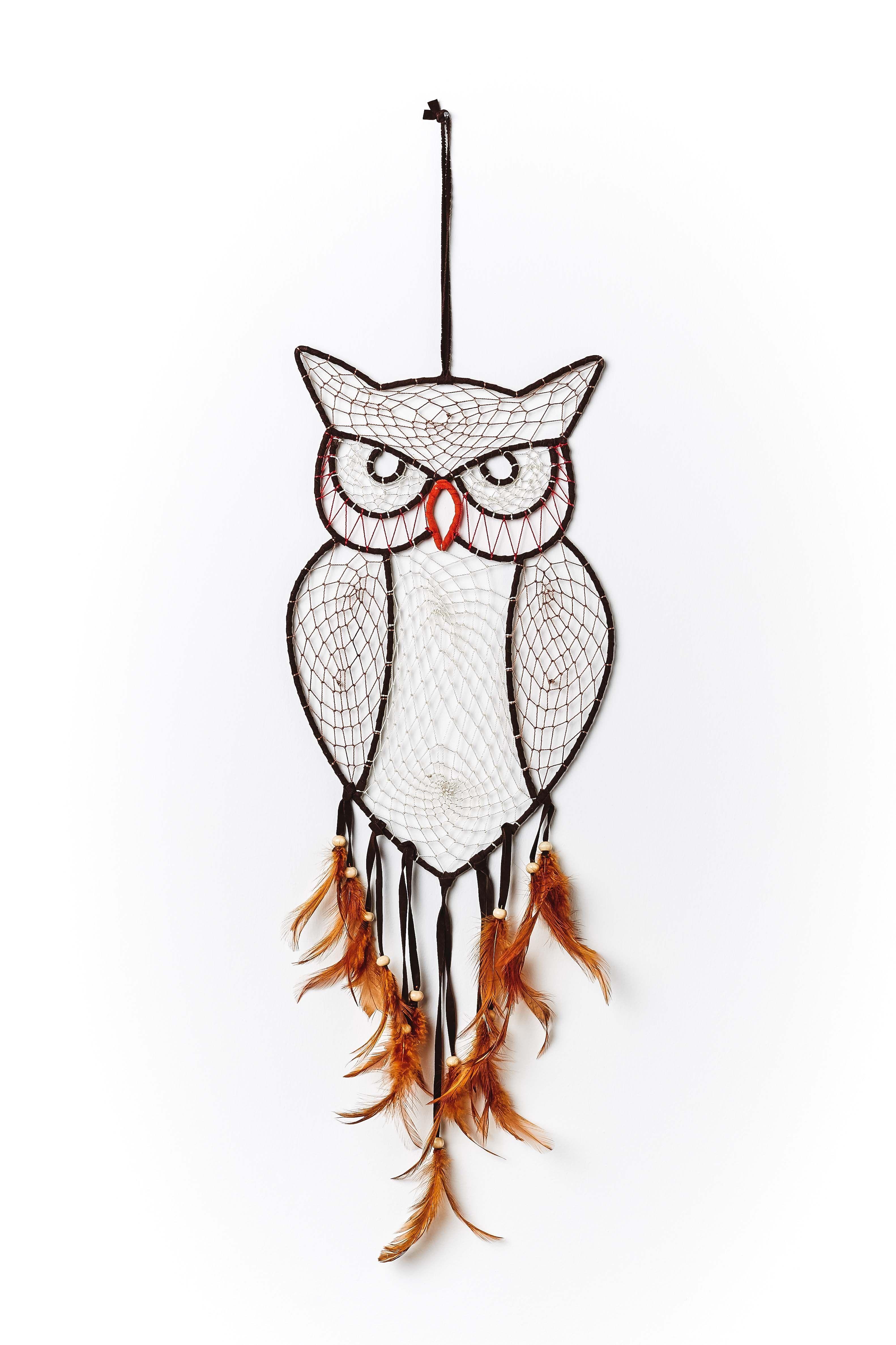 Natural Owl Wall Hanger