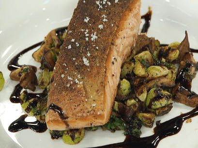 Salmon with Caramelized Brussel Sprouts and Shitaki Mushrooms | NBC 10 Philadelphia