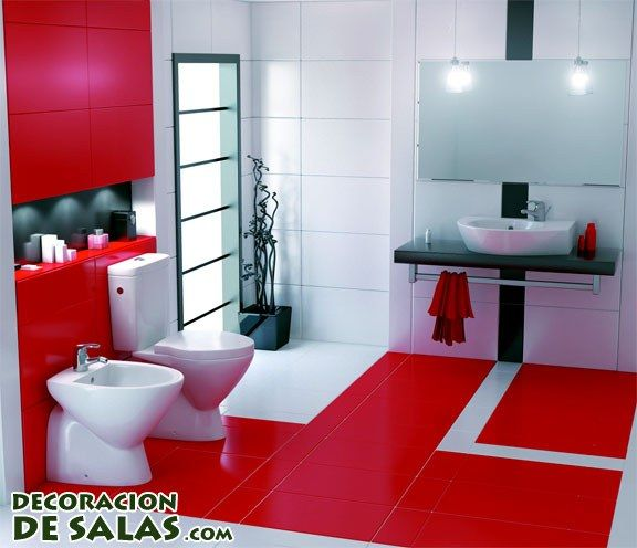 contemporary red bathroom designs 2016 with led lighting nove home