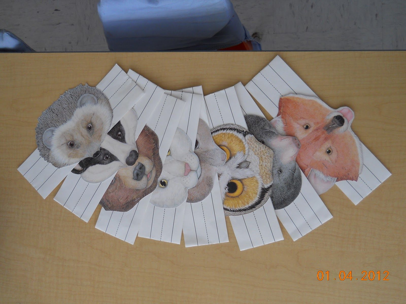 Printable Animal Masks For The Mitten Story