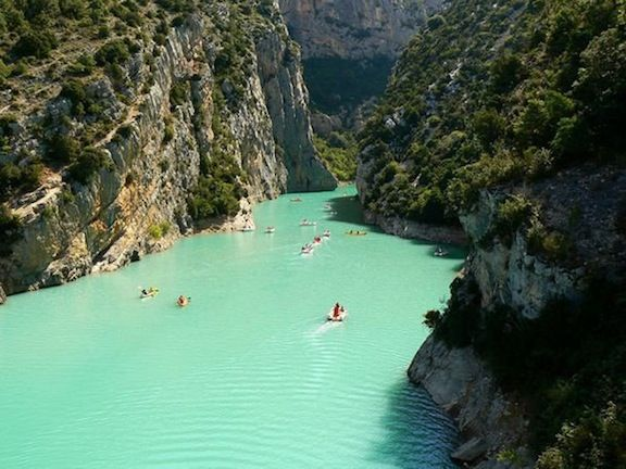 Verdon, Provence, France. Blue lagoon. Minus Brooke Shields and the dangly willy scene.