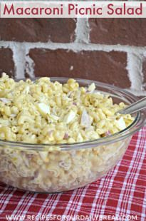 Macaroni Picnic Salad - Recipes For Our Daily Bread
