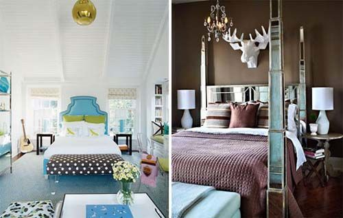 Sophisticated Brown and Blue Bedroom Decorating Ideas - Top ...