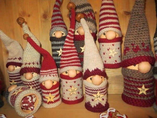 Häkelanleitung✓ Adventskalender Woll-Wichtel✓ | Doll & Puppets ...