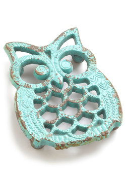 Hoot Stuff Trivet Warm Hearts With Your Sweet Rustic Style By Nestling Your Cake Or Casserole On This Adorable Owl Tr Owl Kitchen Decor Owl Kitchen Owl Decor