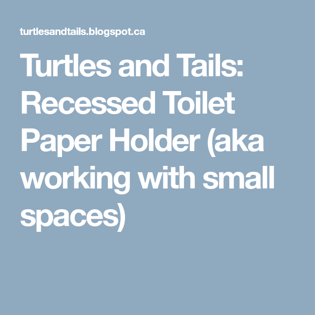 Turtles And Tails Master Bedroom Before And After: Turtles And Tails: Recessed Toilet Paper Holder (aka