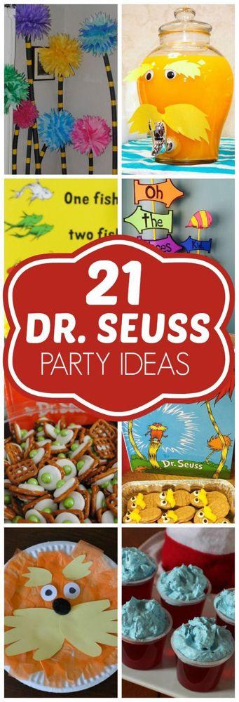 21 DIY Dr. Seuss Party Ideas - Dr. Seuss Birthday - Pretty My Party