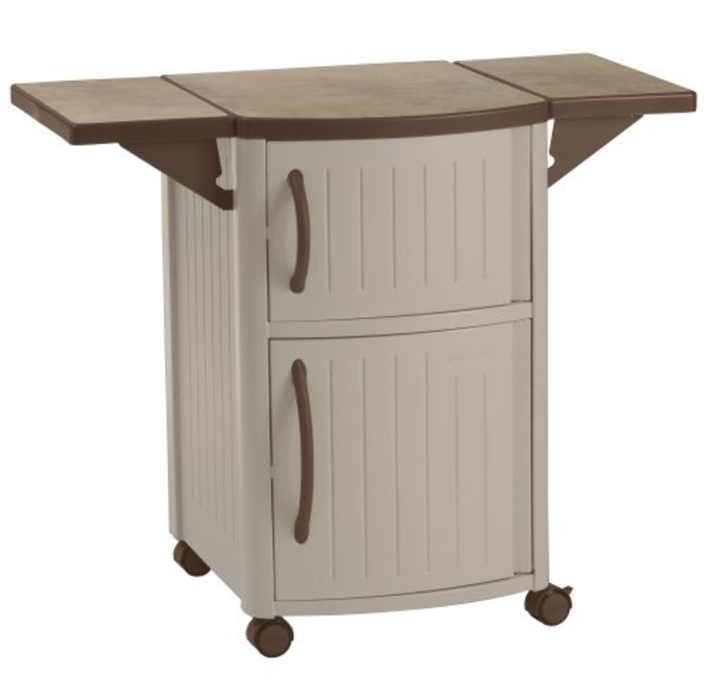 Outdoor Prep Station Patio Portable Bbq Cabinet Storage Deck Bar Pool Grill  #Suncast