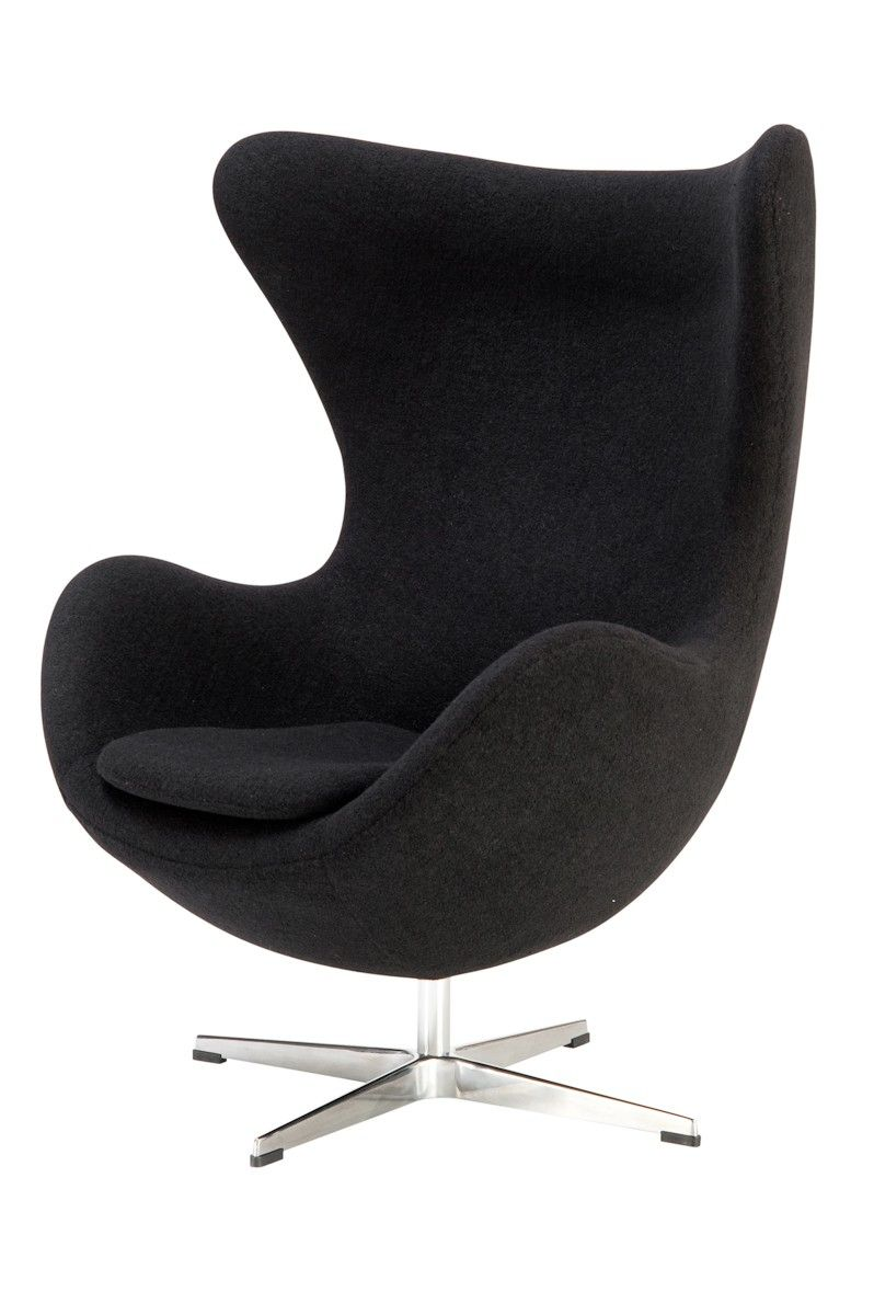 Classics designers arne jacobsen egg chair replica in cowhide - Replica Egg Chair Premium Wool Tilt And Swivel Function The Egg Chair Was