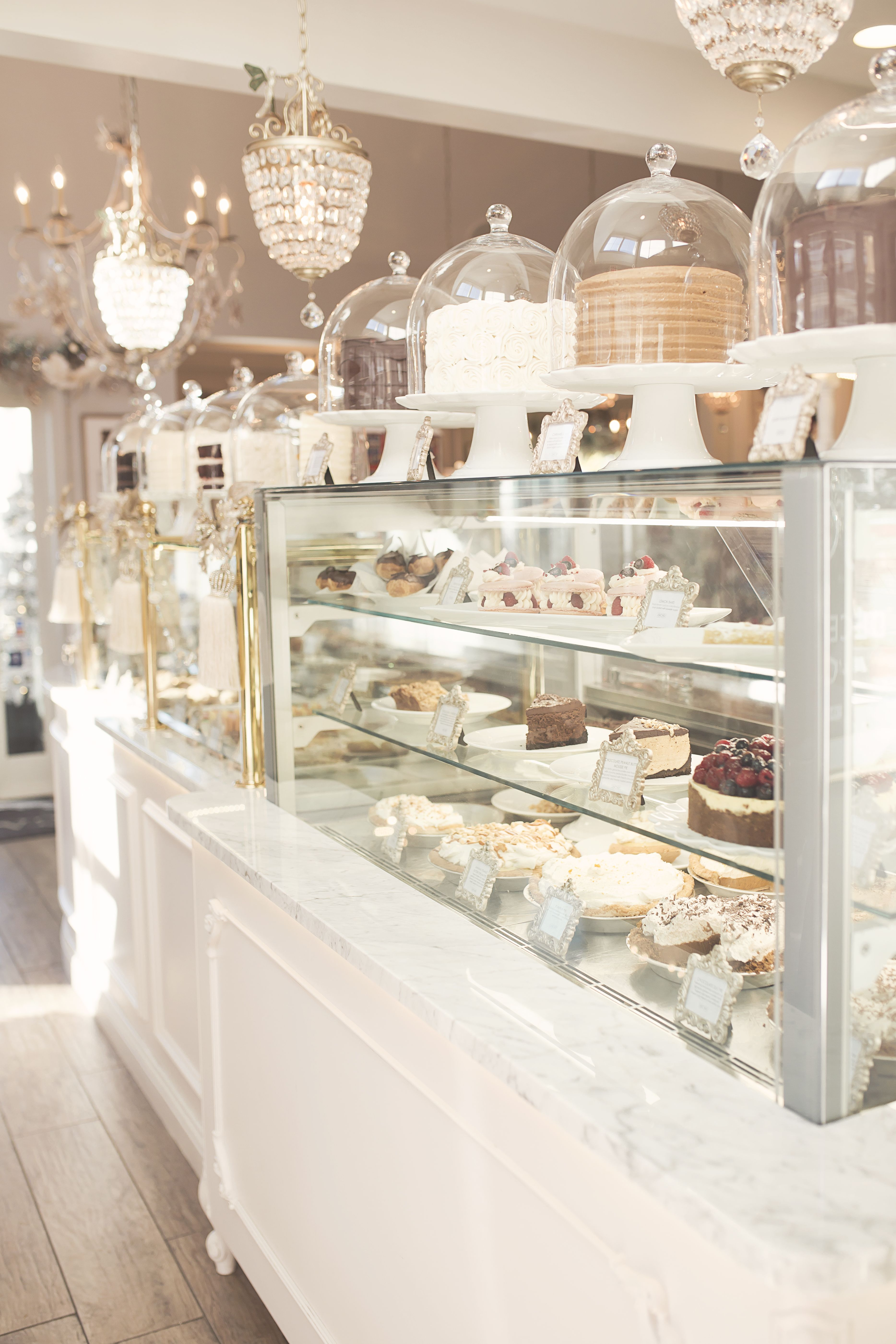 Cakes on display at the Cake Bake Shop in Indianapolis.   stores ...