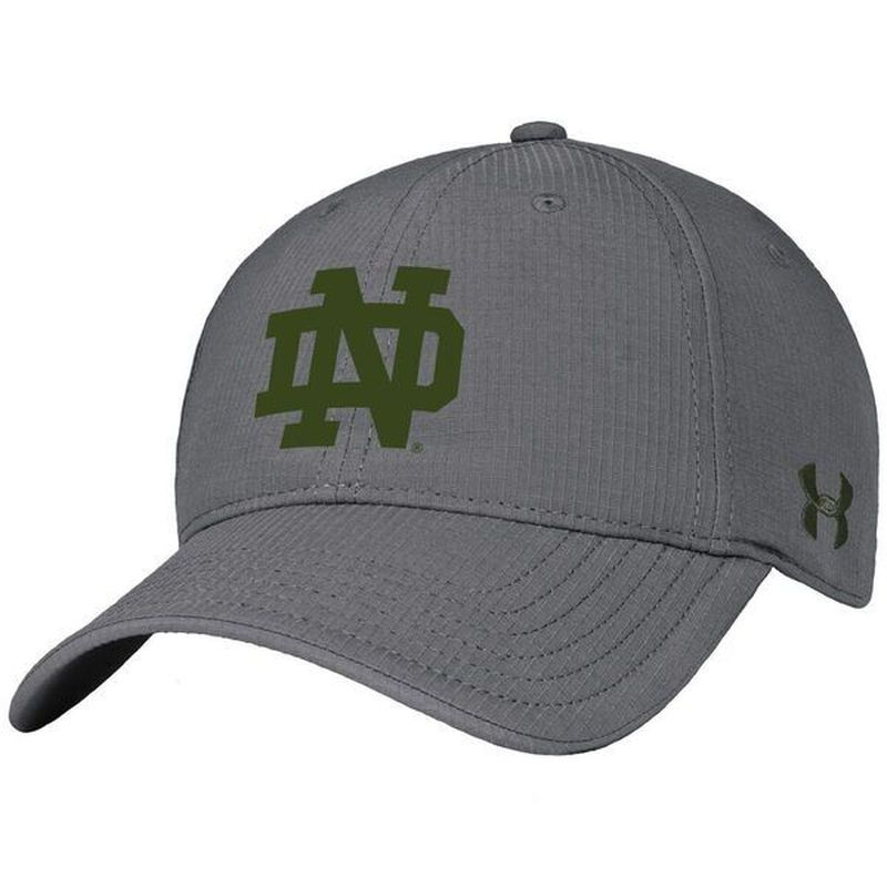 afc330effdd9 Notre Dame Fighting Irish Under Armour 2016 Shamrock Series Structured Flex  Hat - Gray