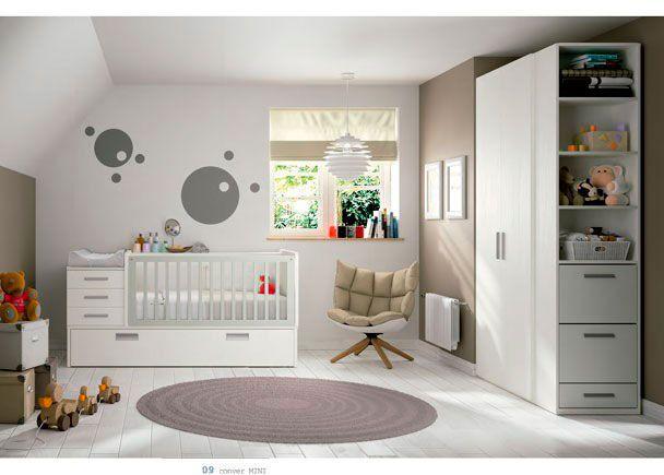 Dormitorio bebé con cuna convertible modelo MINI | Novedades de ...