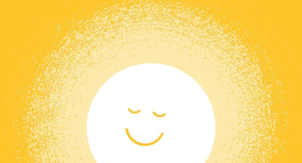 La luce è un simbolo per la felicità che lei sente con