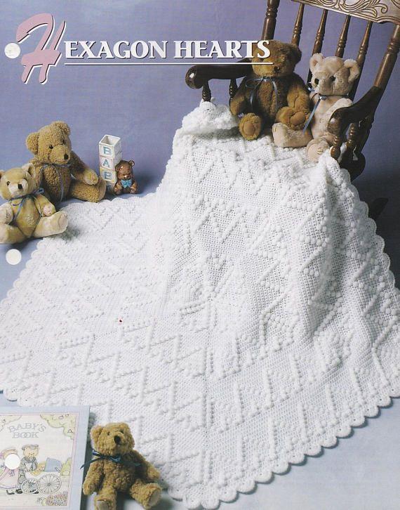 Hexagon Hearts, Annie\'s Attic Crochet Afghan & Quilt Pattern Club ...
