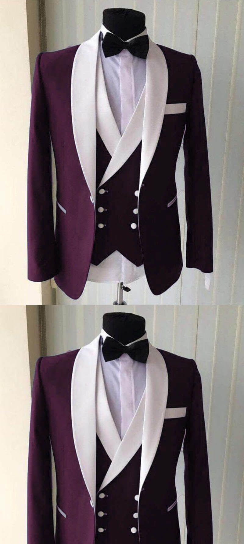 Blue White Groomsmen Suit Men S Wedding Tuxedo Three Pieces