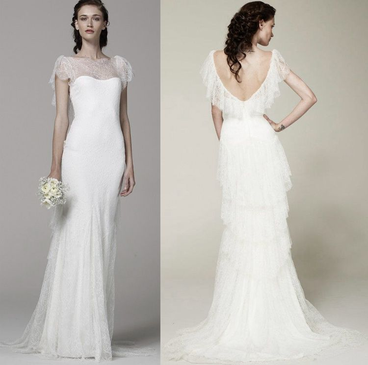 Iace wedding dresses pictures | marchesa 2013 lace illusion neckline bridal dress click on image to ...