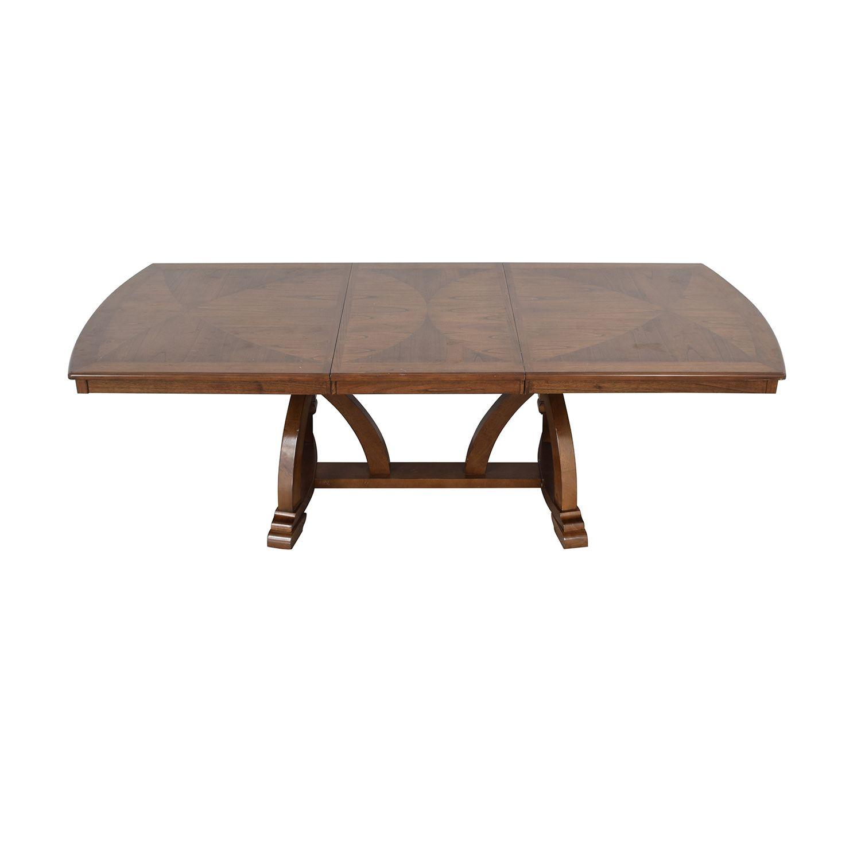 79 Off Raymour Flanigan Raymour Flanigan Wood Expandable Dining Table Tables Dining Table Expandable Dining Table Table [ 1500 x 1500 Pixel ]