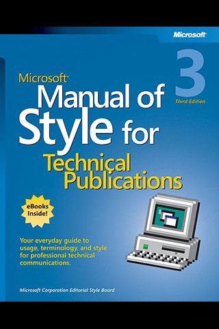 Microsoft Manual Of Style For Technical Publications Third Edition Iphone And Ipad App By O Reilly Med Manual Of Style Technical Communication O Reilly Media