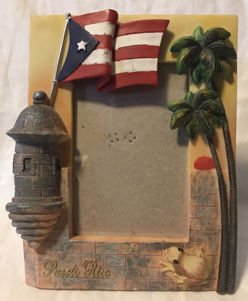 Puerto rico photo 3d picture frame resin flag coqui frog flag puerto rico photo 3d picture frame resin flag coqui frog flag boriqua rican palm pr jeuxipadfo Image collections