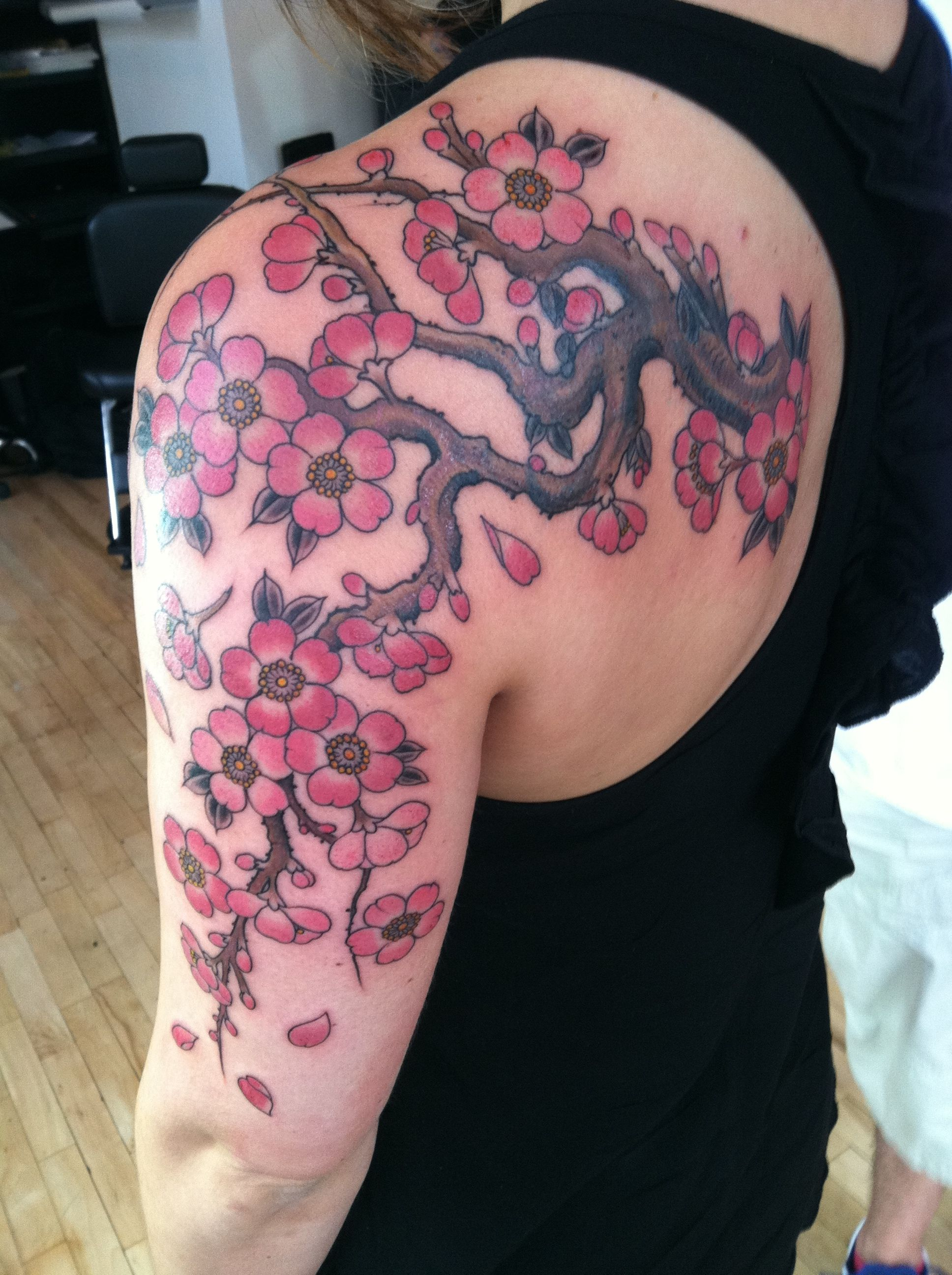 Cherry Blossom Tattoos And Meanings Cherry Blossom Tattoo Designs And Ideas Cherry Tree Tattoos Tree Tattoo Designs Cherry Blossom Tattoo