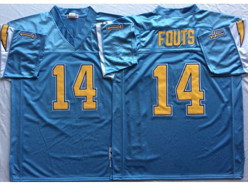 meet 20f17 b7217 San Diego Chargers #14 Dan Fouts Throwback Powder Blue ...