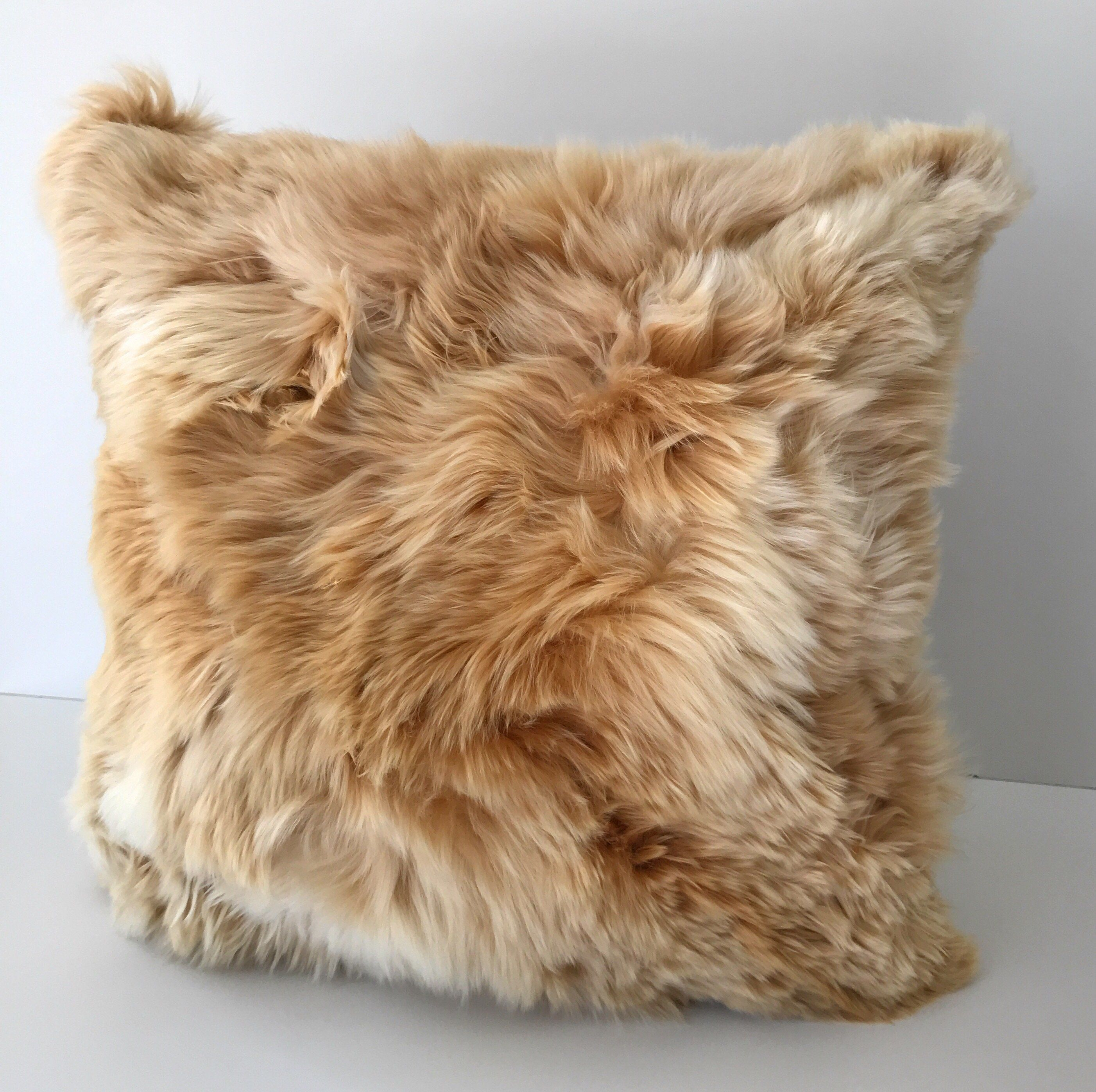 Taupe, Baby Alpaca Fur pillow cover. 20