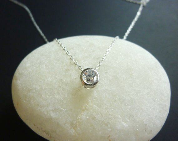 Bezel set solitaire diamond necklace in sterling silver small bezel set solitaire diamond necklace in sterling silver small solitaire diamond necklace single diamond necklace bezel set momentusny mozeypictures Choice Image